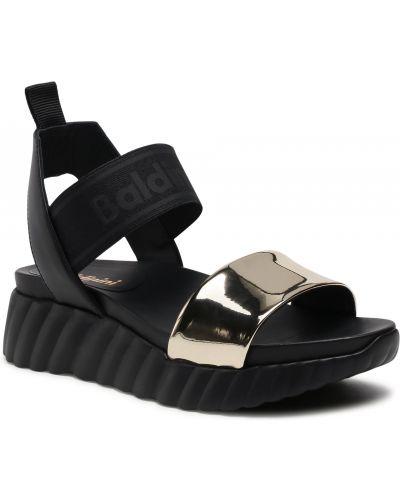 Czarne sandały casual Baldinini