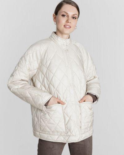 Бежевая свободная куртка с рукавом реглан на пуговицах Ostin