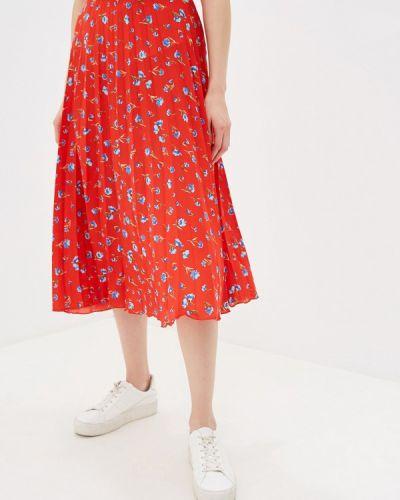 Плиссированная юбка красный турецкий Dorothy Perkins