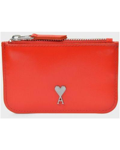 Czerwony portfel Ami Paris