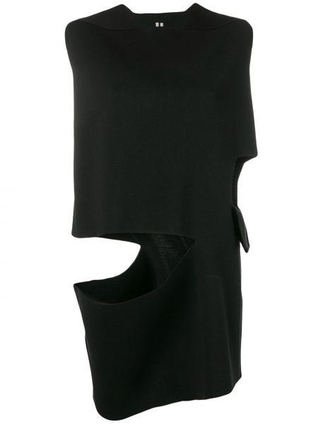 Czarna kamizelka bez rękawów z jedwabiu Rick Owens