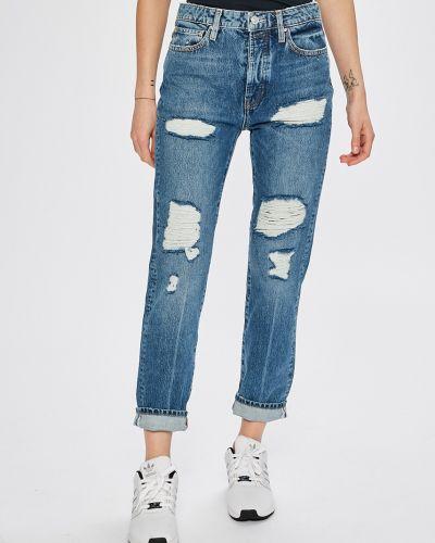 Прямые джинсы с эффектом потертости на пуговицах Guess Jeans
