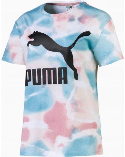Bawełna niebieski bawełna t-shirt Puma