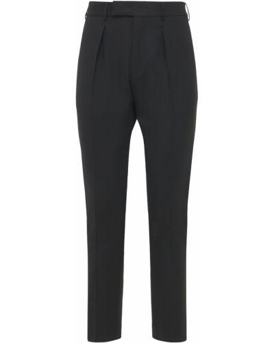 Czarne spodnie wełniane Pantaloni Torino