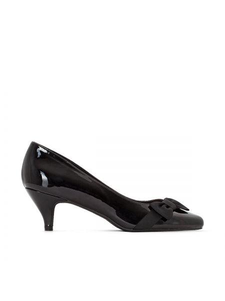 Кожаные туфли с бантом на каблуке Castaluna