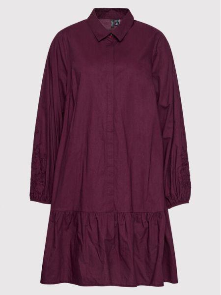 Sukienka bordowa Vero Moda Curve