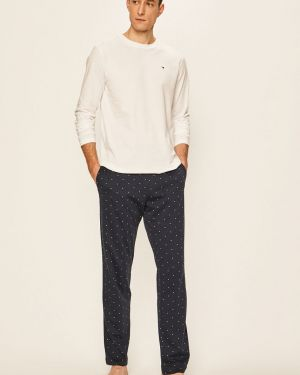 Biała spodni piżama bawełniana Tommy Hilfiger