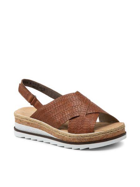 Sandały espadryle - brązowe Rieker