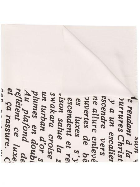 Włókienniczy biały szalik Christian Dior
