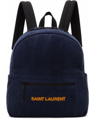 Plecak skórzany - czarny Saint Laurent