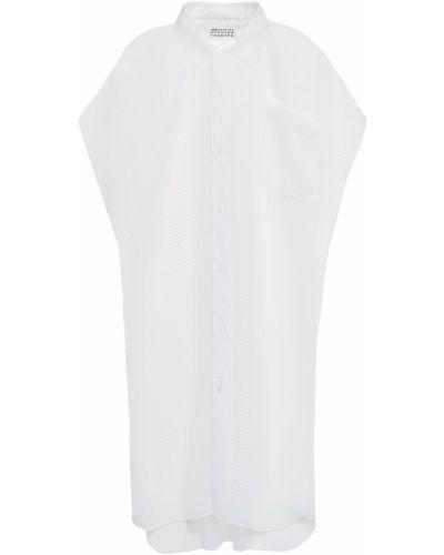 Белая рубашка прозрачная из органзы Maison Margiela