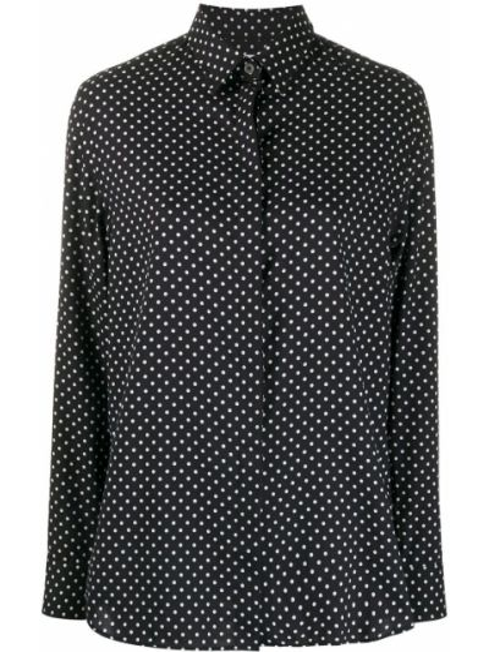 Черная рубашка с воротником на пуговицах с длинными рукавами Paul Smith