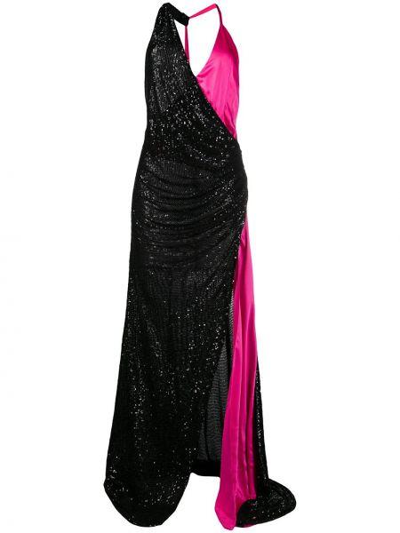 Платье с пайетками с V-образным вырезом с драпировкой без рукавов Redemption