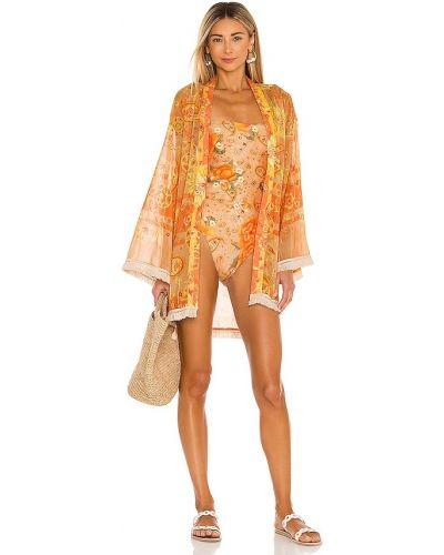 Markowe otwarty włókienniczy kimono Agua Bendita