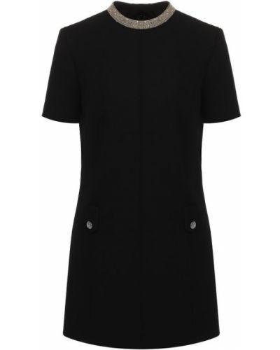Платье шелковое шерстяное Saint Laurent