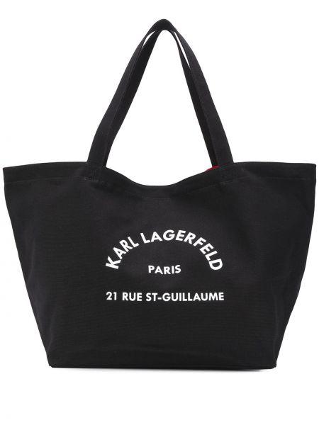 Сумка-тоут с ручками круглая Karl Lagerfeld