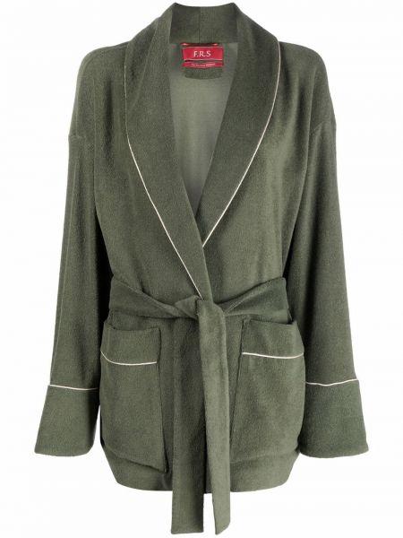 Зеленый махровый халат с поясом F.r.s. For Restless Sleepers