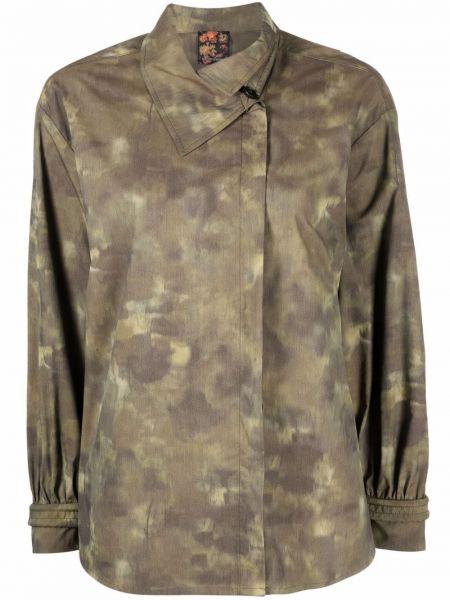 Koszula asymetryczna - zielona Emporio Armani
