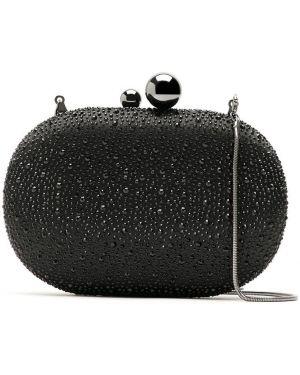 Черная сумка с подкладкой со стразами Isla