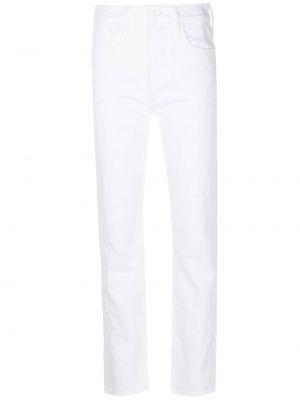 Белые хлопковые прямые джинсы классические Mother