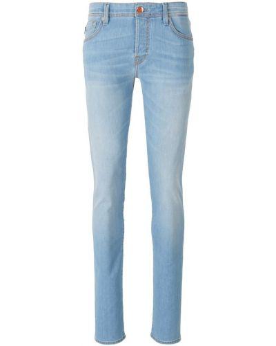 Niebieskie jeansy slim Tramarossa