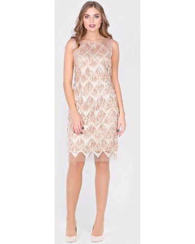 Вечернее платье футляр с бахромой Filigrana