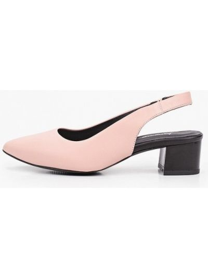 Розовые кожаные туфли с открытой пяткой Laremo