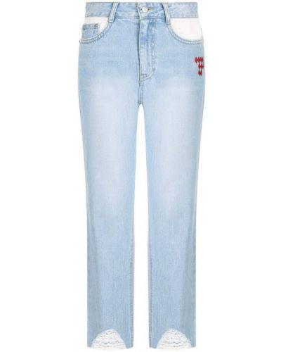 Укороченные джинсы с вышивкой с эффектом потертости Steve J & Yoni P