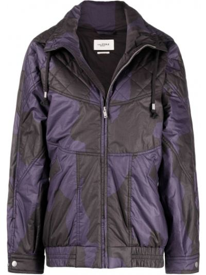 Ватная черная длинная куртка с карманами Isabel Marant étoile