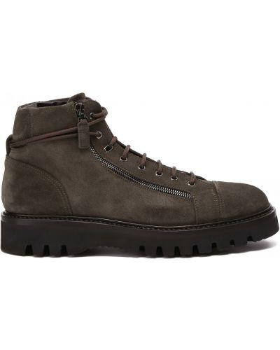 Зеленые ботинки на молнии Franceschetti