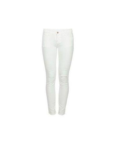 Зауженные белые джинсы-скинни Armani Jeans