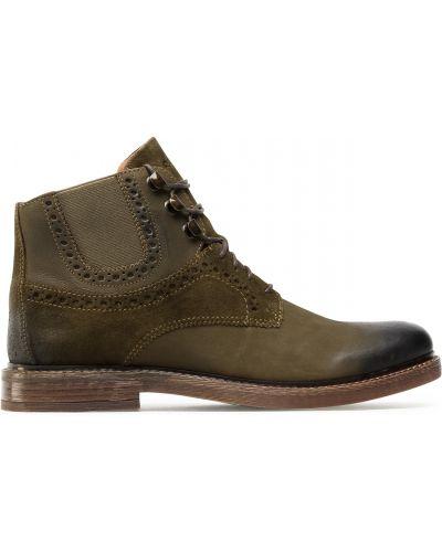 Ботинки - зеленые Quazi