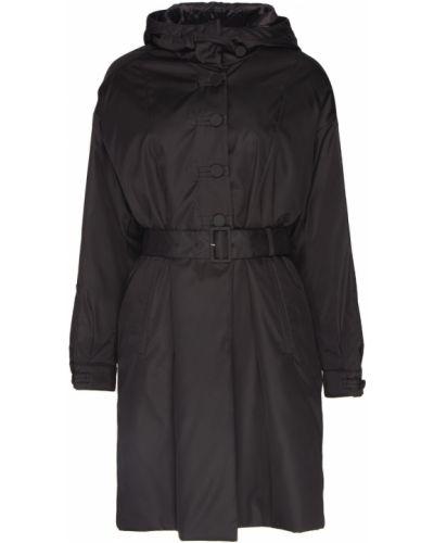 Черный анорак с карманами на пуговицах Prada
