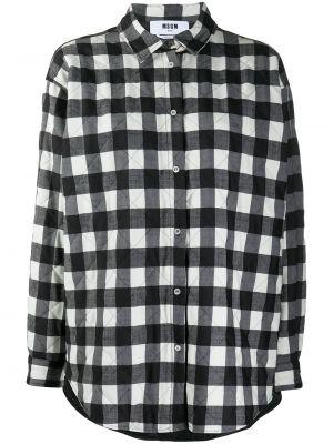 Рубашка в клетку - черная Msgm