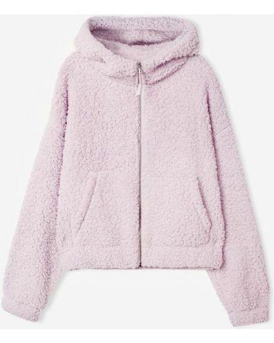 Джинсовая куртка с капюшоном - сиреневая Gloria Jeans