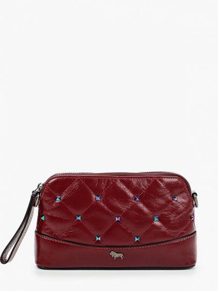 Красная кожаная сумка с перьями из натуральной кожи Labbra