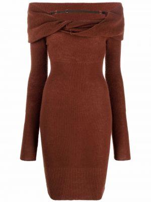 Шерстяное платье - коричневое Jacquemus