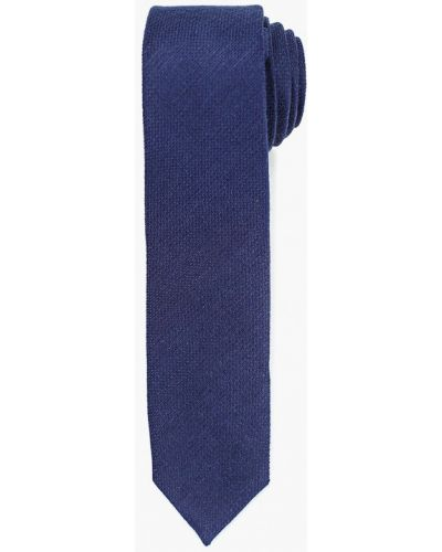 Синий галстук с бабочками Colletto Bianco