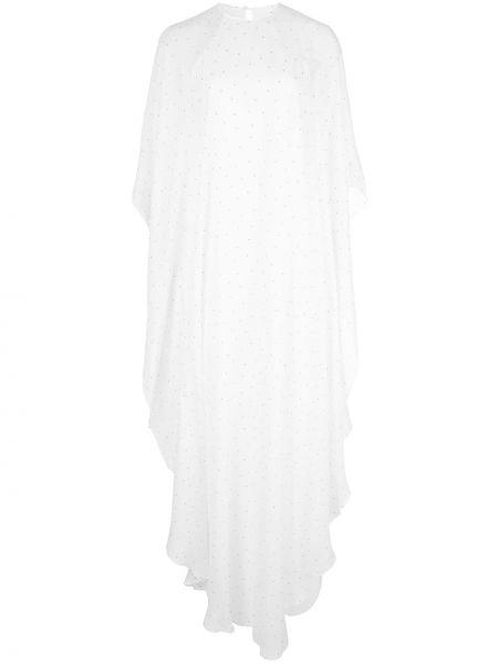 Шелковое платье с оборками с драпировкой с вырезом Michelle Mason