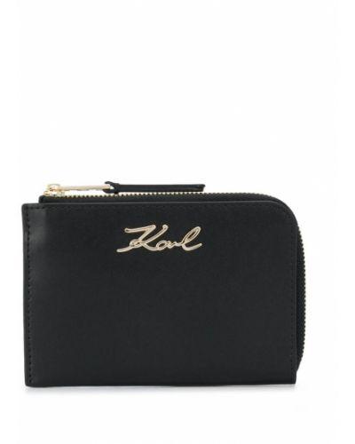 Кожаная ключница на молнии золотая Karl Lagerfeld