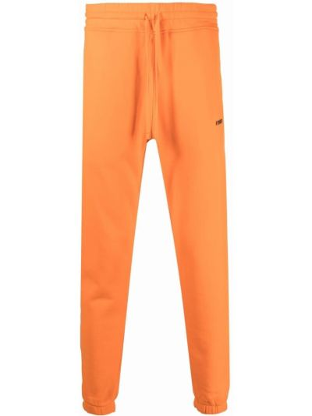 Pomarańczowe spodnie z printem Hydrogen