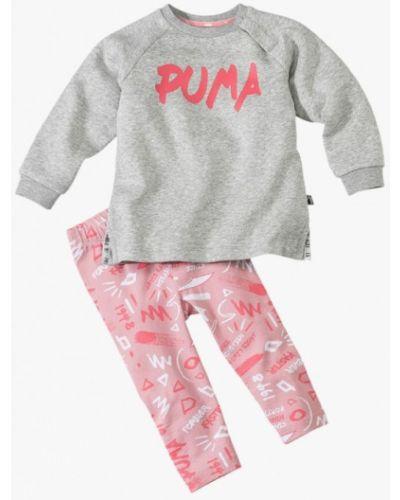 Костюм серый розовый Puma
