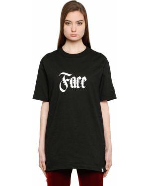 Czarny t-shirt bawełniany Facetasm