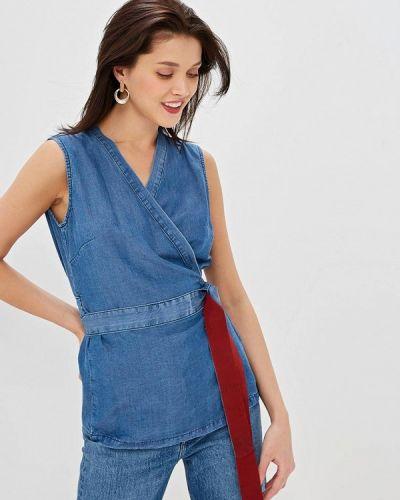 Блузка без рукавов турецкий синяя Sisley