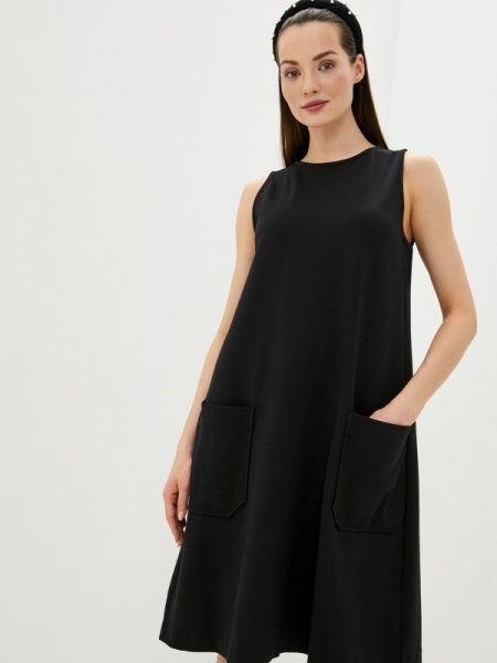 Платье прямое черное United Colors Of Benetton