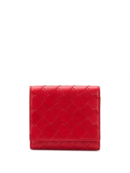 Кожаный кошелек в полоску Bottega Veneta
