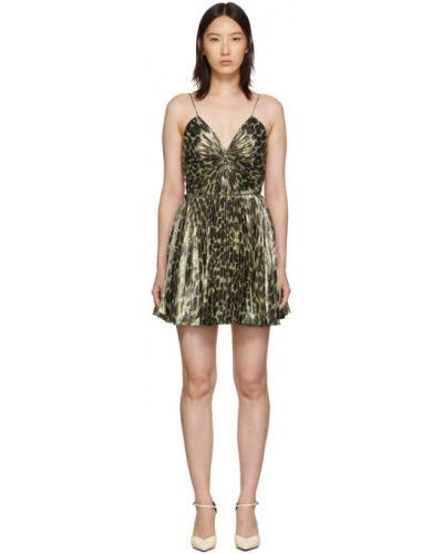 Платье с завышенной талией на пуговицах Saint Laurent