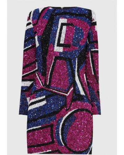 Платье миди с пайетками - розовое Retrofete