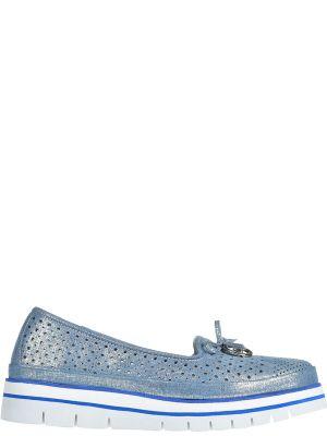 Кожаные туфли - голубые Lab-milano