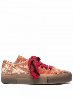 Красные кеды на шнуровке Uma Wang